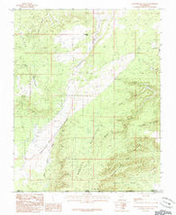 Yellowjacket Canyon Utah Historical topographic map, 1:24000 scale, 7.5 X 7.5 Minute, Year 1985