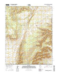Yellowjacket Canyon Utah Current topographic map, 1:24000 scale, 7.5 X 7.5 Minute, Year 2014