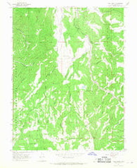 Yogo Creek Utah Historical topographic map, 1:24000 scale, 7.5 X 7.5 Minute, Year 1966