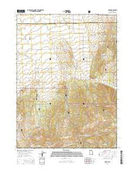Yost Utah Current topographic map, 1:24000 scale, 7.5 X 7.5 Minute, Year 2014