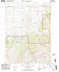 Yost Utah Historical topographic map, 1:24000 scale, 7.5 X 7.5 Minute, Year 2001