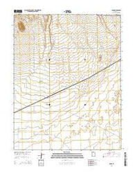 Zane Utah Current topographic map, 1:24000 scale, 7.5 X 7.5 Minute, Year 2014