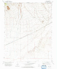 Zane Utah Historical topographic map, 1:24000 scale, 7.5 X 7.5 Minute, Year 1972