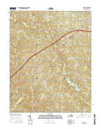 Alberta Virginia Current topographic map, 1:24000 scale, 7.5 X 7.5 Minute, Year 2016 from Virginia Map Store