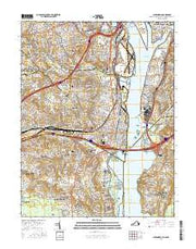 Alexandria Virginia Current topographic map, 1:24000 scale, 7.5 X 7.5 Minute, Year 2016 from Virginia Maps Store