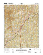 Amherst Virginia Current topographic map, 1:24000 scale, 7.5 X 7.5 Minute, Year 2016 from Virginia Map Store