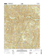 Ante Virginia Current topographic map, 1:24000 scale, 7.5 X 7.5 Minute, Year 2016 from Virginia Map Store