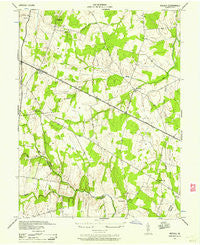 Arcola Virginia Historical topographic map, 1:24000 scale, 7.5 X 7.5 Minute, Year 1943
