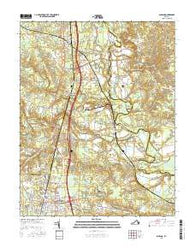 Ashland Virginia Current topographic map, 1:24000 scale, 7.5 X 7.5 Minute, Year 2016