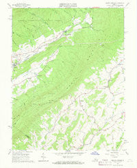 Augusta Springs Virginia Historical topographic map, 1:24000 scale, 7.5 X 7.5 Minute, Year 1967