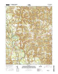 Aylett Virginia Current topographic map, 1:24000 scale, 7.5 X 7.5 Minute, Year 2016