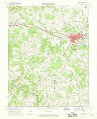 Bedford Virginia Historical topographic map, 1:24000 scale, 7.5 X 7.5 Minute, Year 1967