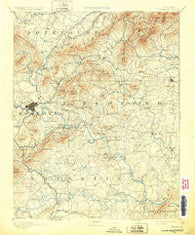 Bedford Virginia Historical topographic map, 1:125000 scale, 30 X 30 Minute, Year 1891