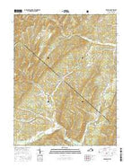 Bergton Virginia Current topographic map, 1:24000 scale, 7.5 X 7.5 Minute, Year 2016 from Virginia Map Store