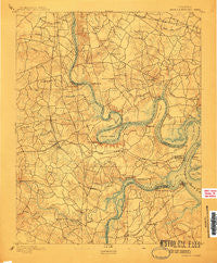 Bermuda Hundred Virginia Historical topographic map, 1:62500 scale, 15 X 15 Minute, Year 1894