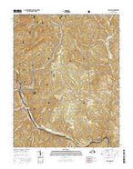 Big Island Virginia Current topographic map, 1:24000 scale, 7.5 X 7.5 Minute, Year 2016 from Virginia Map Store