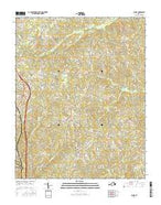 Blairs Virginia Current topographic map, 1:24000 scale, 7.5 X 7.5 Minute, Year 2016 from Virginia Map Store
