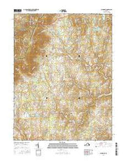 Bluemont Virginia Current topographic map, 1:24000 scale, 7.5 X 7.5 Minute, Year 2016 from Virginia Maps Store