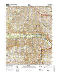 Bon Air Virginia Current topographic map, 1:24000 scale, 7.5 X 7.5 Minute, Year 2016