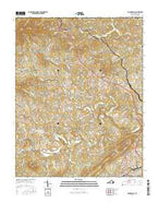 Boones Mill Virginia Current topographic map, 1:24000 scale, 7.5 X 7.5 Minute, Year 2016 from Virginia Map Store