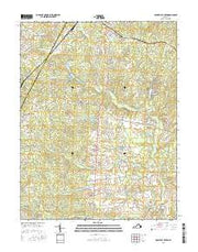 Boswells Tavern Virginia Current topographic map, 1:24000 scale, 7.5 X 7.5 Minute, Year 2016 from Virginia Maps Store