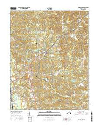 Bowling Green Virginia Current topographic map, 1:24000 scale, 7.5 X 7.5 Minute, Year 2016