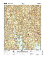 Boydton Virginia Current topographic map, 1:24000 scale, 7.5 X 7.5 Minute, Year 2016 from Virginia Map Store
