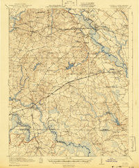 Boykins Virginia Historical topographic map, 1:62500 scale, 15 X 15 Minute, Year 1920