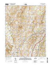 Bridgewater Virginia Current topographic map, 1:24000 scale, 7.5 X 7.5 Minute, Year 2016 from Virginia Maps Store