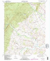Briery Branch Virginia Historical topographic map, 1:24000 scale, 7.5 X 7.5 Minute, Year 1967