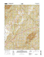 Brightwood Virginia Current topographic map, 1:24000 scale, 7.5 X 7.5 Minute, Year 2016 from Virginia Map Store