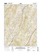 Broadway Virginia Current topographic map, 1:24000 scale, 7.5 X 7.5 Minute, Year 2016 from Virginia Map Store