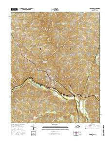 Brookneal Virginia Current topographic map, 1:24000 scale, 7.5 X 7.5 Minute, Year 2016