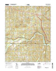 Brosville Virginia Current topographic map, 1:24000 scale, 7.5 X 7.5 Minute, Year 2016 from Virginia Maps Store