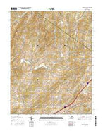 Brownsburg Virginia Current topographic map, 1:24000 scale, 7.5 X 7.5 Minute, Year 2016 from Virginia Map Store