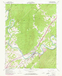 Buchanan Virginia Historical topographic map, 1:24000 scale, 7.5 X 7.5 Minute, Year 1961