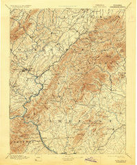 Buena Vista Virginia Historical topographic map, 1:125000 scale, 30 X 30 Minute, Year 1894