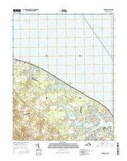 Burgess Virginia Current topographic map, 1:24000 scale, 7.5 X 7.5 Minute, Year 2016 from Virginia Maps Store