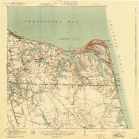 Cape Henry Virginia Historical topographic map, 1:62500 scale, 15 X 15 Minute, Year 1919