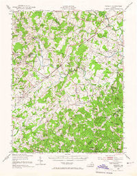Catlett Virginia Historical topographic map, 1:62500 scale, 15 X 15 Minute, Year 1943