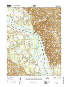 Champlain Virginia Current topographic map, 1:24000 scale, 7.5 X 7.5 Minute, Year 2016