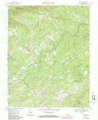 Charity Virginia Historical topographic map, 1:24000 scale, 7.5 X 7.5 Minute, Year 1967