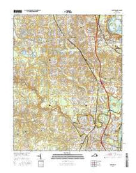 Chester Virginia Current topographic map, 1:24000 scale, 7.5 X 7.5 Minute, Year 2016