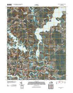 Chuckatuck Virginia Historical topographic map, 1:24000 scale, 7.5 X 7.5 Minute, Year 2010