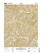 Chula Virginia Current topographic map, 1:24000 scale, 7.5 X 7.5 Minute, Year 2016 from Virginia Map Store