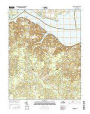 Claremont Virginia Current topographic map, 1:24000 scale, 7.5 X 7.5 Minute, Year 2016 from Virginia Maps Store