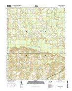 Claresville Virginia Current topographic map, 1:24000 scale, 7.5 X 7.5 Minute, Year 2016 from Virginia Map Store