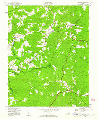 Clayville Virginia Historical topographic map, 1:24000 scale, 7.5 X 7.5 Minute, Year 1943