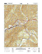 Clifton Forge Virginia Current topographic map, 1:24000 scale, 7.5 X 7.5 Minute, Year 2016 from Virginia Map Store