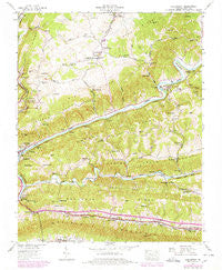 Clinchport Virginia Historical topographic map, 1:24000 scale, 7.5 X 7.5 Minute, Year 1947